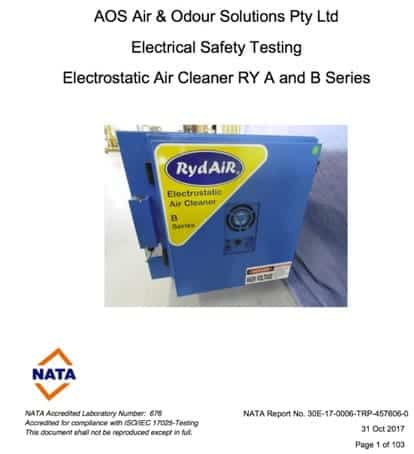 Electrostatic Air Cleaner Electrical Safety Test Certified
